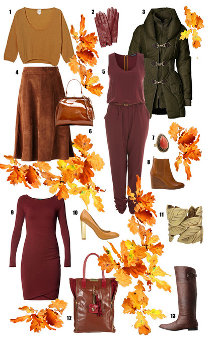 Herbstfarben Mode